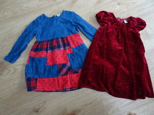 TU girls 2 piece clothes bundle xmas christmas dresses red denim AGE 2 - 3 YEARS
