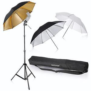 "Neewer 33""/84cm Flash Mount Reflective Umbrellas Kit 33"" f Studio Photo-3 Color"