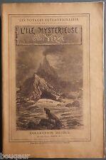 RARE Jules VERNE Hetzel Ile Mystérieuse grand in-8 BROCHE Portrait gravé ajouté