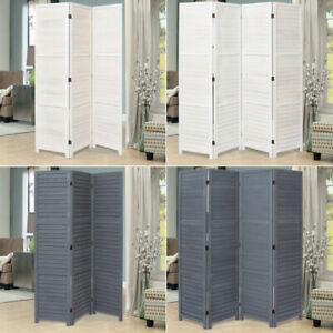 Wooden Slat Privacy Screen Folding Room Divider Partition Furniture 3/4/6 Panels