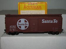 Accurail Ho scale 3201 40' Steel Door Box At&Sf Assebled! Upgraded!