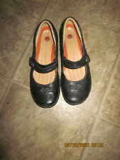 CLARK UNSTRUCTURED WOMEN'S BLACK MARY JANE LEATHER SHOES SIZE 8