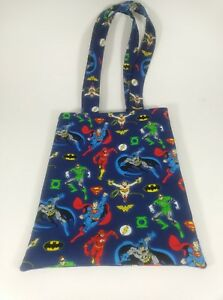 DC Comics Superheros Lg Handmade Graphic Novel Comic Book Sleeve Protector Tote