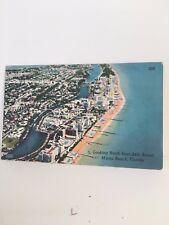 1955 Linen AERIAL VIEW NORTH 24TH STREET Miami Beach Florida FL