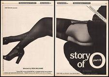 "THE STORY OF ""O"" part II__Original 1984 Trade AD promo / poster__SANDRA WEY__2"