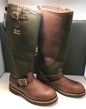 "Chippewa Mens Size 11 Briar Pitstop 17"" Waterproof Pull On Snake Hunting Boots"