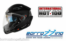 CASCO AIROH EXECUTIVE EX06 NERO LUCIDO MENTONIERA STACCABILE TG. S