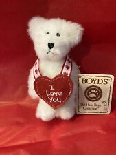 Valentine White Teddy Bear Boyds Bears I Love You The Head Bean Collection 4�