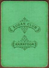 Playing Cards 1 Single Swap Card - Old Antique Goodall Wide SUDAN CLUB KHARTOUM