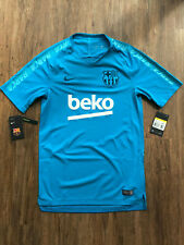 Nike FC Barcelona Fussball Trainingsshirt   Neu   Hellblau   Größe S