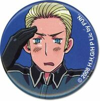"Lot of 2 Hetalia Germany 1.25"" Button GE16035 and hetalia england 1.25"" Button"