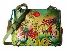 Anuschka Leather Rousseau's Jungle Triple Compartment Convertible Bag, 525-RSJ