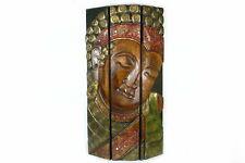 3.tlg Wandbild Standbild Buddha Gesicht Antik 60x100cm Sichtschutz Raumteiler