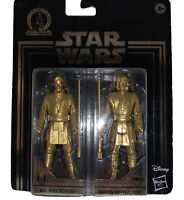 NEW Star Wars Commemorative Edition Gold Obi-Wan Kenobi & Anakin Skywalker.