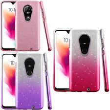 For T-Mobile Revvlry+ PLUS SHINE Hybrid Hard Case Rubber Phone Cover Accessory