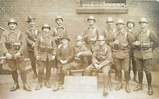 Carte photo Bytom (Pologne) 1920, Guerre, Militaires français, Poland, Polonais.
