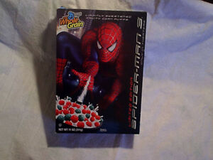 2007 SPIDER-MAN 3 MOVIE KELLOGG'S CEREAL BOX,empty,spiderman
