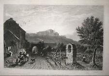 GEISENHEIM JOHANNISBERG. Stahlstich von TOMBLESON / SHENFIELD 1845