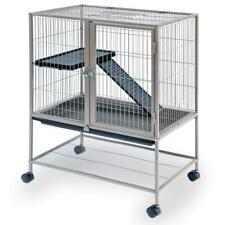 "Frisky Ferret Home Two-Level Small Animal Cage 34""H with Wheels, Ramp, Platform"