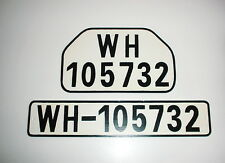GERMAN ARMY WWII WW2 repro car vehicle truck license number plate set WH-105732