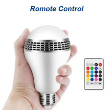 12W E27 LED RGB Wireless Bluetooth Speaker Smart Bulb Light Music Lamp Remote RC