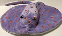 "15"" Spotted Stingray Plush Purple Stuffed Animal Adventure Planet Rare"