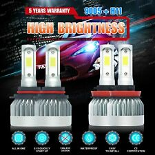 9005 H11 3400W 510000LM Combo LED Headlight Kits High Low Beam Bulbs 6000K White