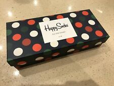 Happy Socks - Holiday Big Dot Gift Box Multi 4 Pack - EU 41-46 UK 7.5-11.5 - New