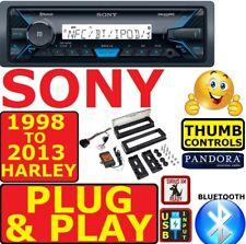 98-13 HARLEY PLUG & PLAY SONY MARINE BLUETOOTH USB RADIO STEREO W/ OPT SIRIUSXM
