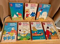 7 x vintage DOCTOR DOLITTLE UK Puffin PB Set - all 1st Eds - 1960s Hugh Lofting