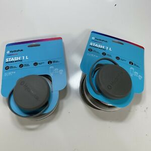 Lot of 2 HydraPak Stash 750 ml Compressible On-the-Go Water Bottle