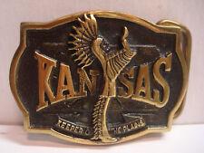 Kansas Keeper of the Plains - Solid Brass Belt Buckle - Heritage Mint - Vintage