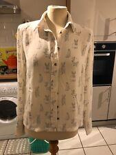 Lovely Cute H&M Bunny Rabbit Shirt Sz Eur 36  8/10