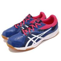 Asics Court Break Blue White Gum Men Badminton Volleyball Shoes 1071A003-400