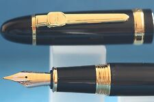 New Jinhao No. 159 Black Lacquered Fine Fountain Pen with Gold Plated Trim