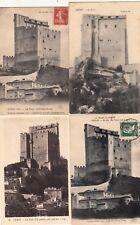 Lot 4 cartes postales anciennes DRÔME CREST la tour