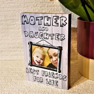Mothers Day Gift Personalised Wooden Block Mum Mummy Nan Nanny Gift Present