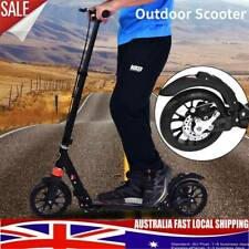 Hand Disc Brake Folding Scooter 200mm Dual Large Wheels Adult Adjustable Scooter