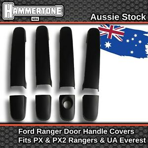 BLACK DOOR HANDLE COVER Accessories For Ford Ranger & Everest PX1 PX2 UA 2011-18