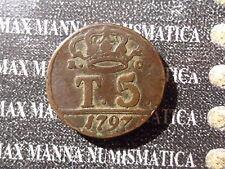 REGNO DI NAPOLI 5 TORNESI 1797  COD. REGNONAPOLIESICILIA-89