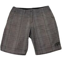 Rip Curl Casual Shorts Size 36 Dark Grey Check