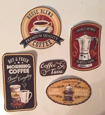 Coffee Patches - Iron On Fabric Appliques /