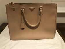 8162c0c07a82 Prada Galleria Bag In Beige Saffiano Leather