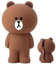 [LINE FRIENDS]BROWN Bear Portable Silicone Pencil Case School Official Goods 1ea