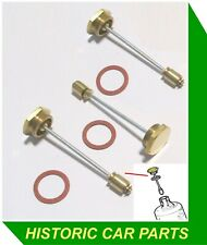 HEX HD BRASS NON-VENTED DAMPERS for SU HD8TH Carbs on JAGUAR XK150S 3.4 1959-62
