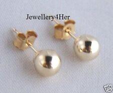 9ct Gold 4mm Small Plain Round Ball Stud Sleeper Earrings X'Mas B'Day Gift Box N