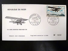 NIGER  AERIEN 85   PREMIER JOUR FDC     AVION BIPLAN POTEZ 25       100F    1968