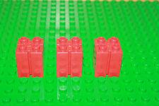Lego Duplo Ritterburg (4864) 3 x roter Führung Stein rot für Burg Tor, Feuerwehr