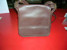 COACH DARK BROWN GREAT BUTTER LEATHER WITH COACH LEATHER TAG ATTACHED