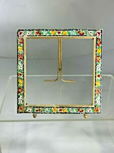 Vintage Made in Italy Micro Mosaic Photo Frame